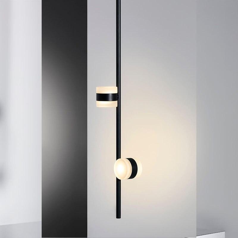 Прикроватный настенный светильник спальня твердая древесина вращающийся проход коридор Скандинавская гостиная светодиодная настенная жи