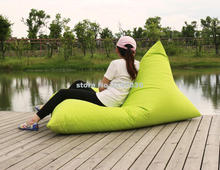 1 seat lounger folding bean bag chair with back support cushion,outdoor waterproof sun lounger