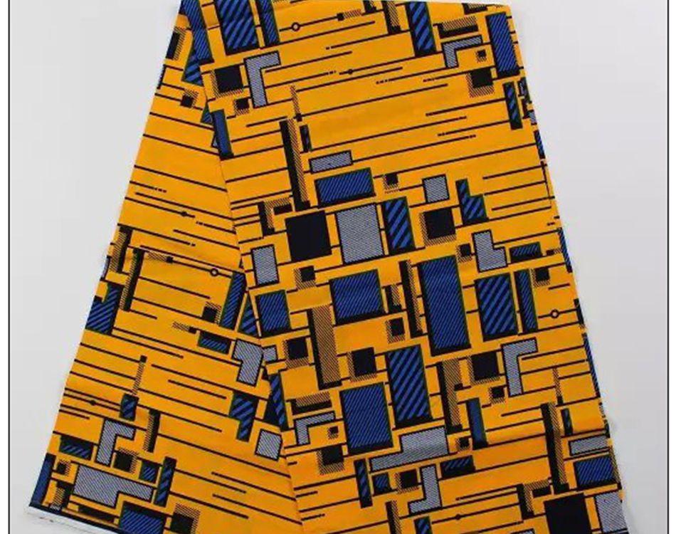 NY DESIGN vax 100%, afrikanskvax trycker tyg bomullstygn WAX-STOFF - Konst, hantverk och sömnad