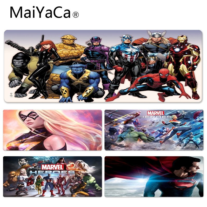 MaiYaCa High Quality Marvel Comic Wallpaper Silicone Pad to Mouse Game Size for 300*900*2mm and 400*900*2mm Game Mousepad