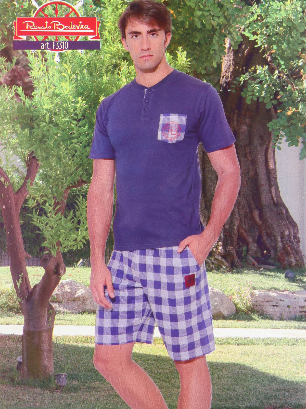 RENATO CROSSBOW Men's Summer Home Pajama Set
