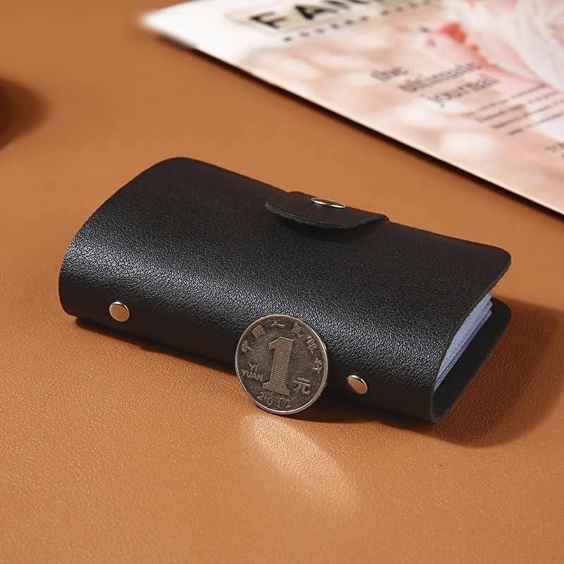 Nieuwe Pu Leer Functie 24 Bits Card Case Visitekaarthouder Mannen Vrouwen Credit Paspoort Card Bag Id Passport Card portemonnee H088