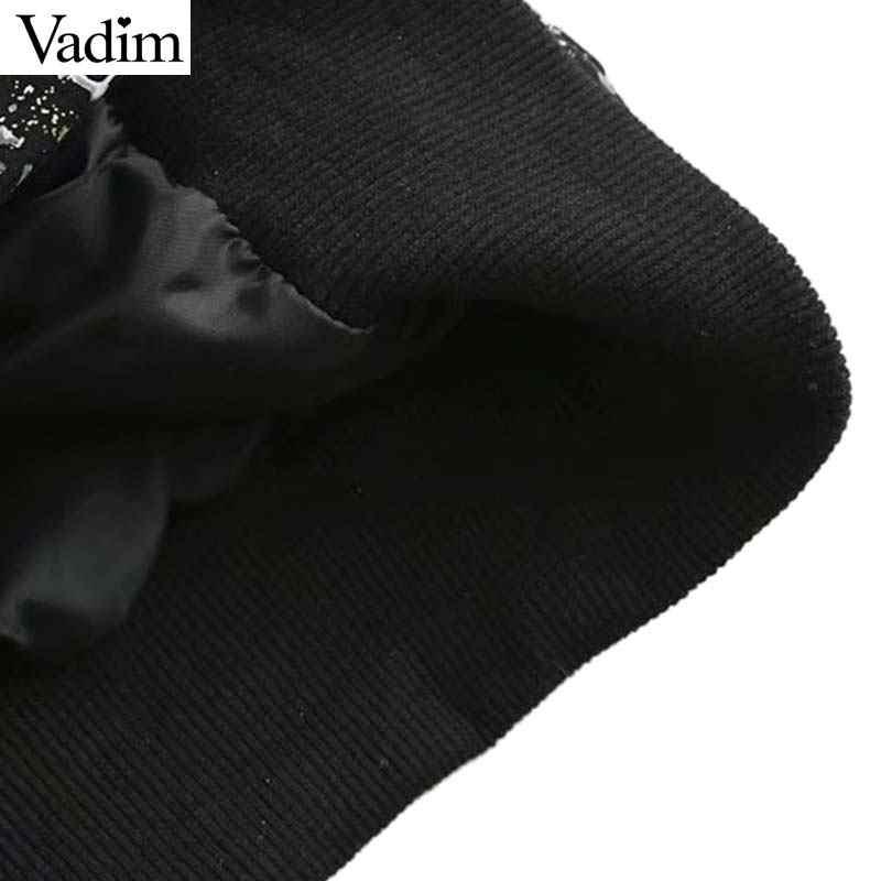 Vadim frauen chic plaid übergroßen bomber jacke taschen laterne hülse tasten mäntel weibliche casual oberbekleidung lose tops CA335