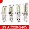 Led G9 G4 AC110V 220V  3014 7W 9W 12W SMD 2835 Crystal Silicone Candle Led G9 Lamp Crystal Silicone corn  light bulb