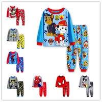 2016 Spiderman Children Pajamas Kids Cartoon Pajamas For Boys Long Sleeve Pyjamas For Girls Cotton Pijamas