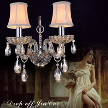 Crystal Wall Sconce Loft Wandlamp Led Lights bedroom bedside wall lamp Luxurious Luminaire Tok K9 Crytal Lamp