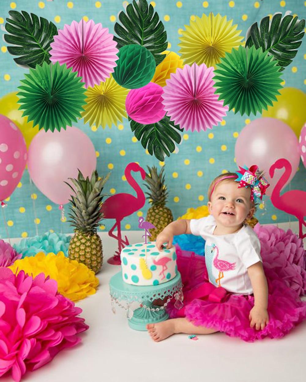 Decoración del partido Hawaiano Feliz Verano Flamingo Party - Para fiestas y celebraciones