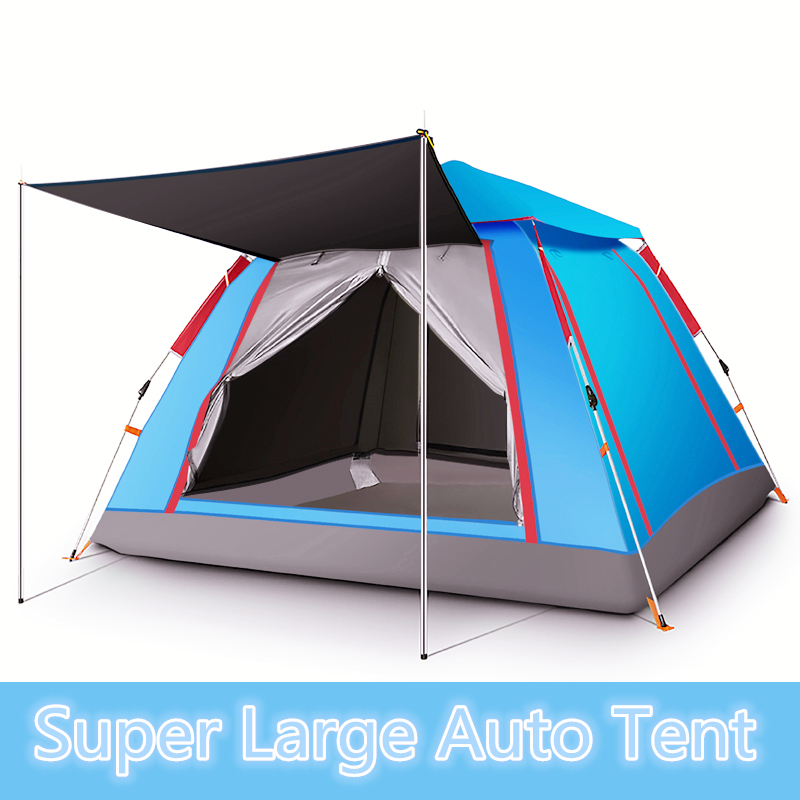 4-6 person Auto throw tent outdoor automatic tents throwing pop up waterproof camping hiking tent waterproof large family tents desert camel automatic tent single layer waterproof anti uv shelter outdoor camping hiking tent family 4 person tent