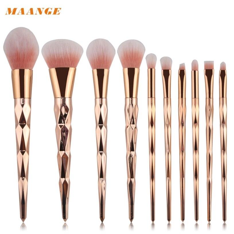 Best Deal MAANGE 10PCS Make Up Foundation Concealer Loose Powder Eye shadow Eyeliner Blush Cosmetic Concealer