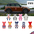 Car-styling Violent car door bear crash truck and large white scratched British Bear 3D stickers For BMW Mini Cooper Accessories
