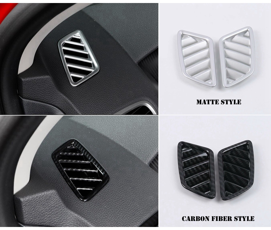 Interior Front Top A//C Air Outlet Cover Trim for 2016-2018 Nissan Altima Matte