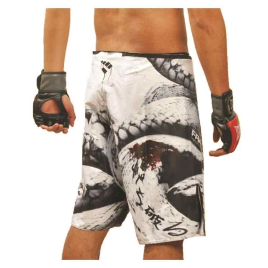 Mma boxe respirável tecido de poliéster solto e confortável calções de treinamento de fitness competição muay thai shorts thai