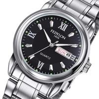 Fedylon Watch LK F470 Men Top Brand Luxury Business Watches Stainless Steel Classic Week Calender Quartz