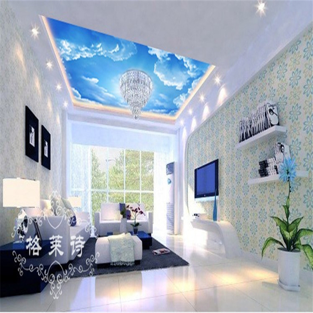 photo wallpaper Custom ceiling mural malls woods blue sky theme wallpaper  for Bedroom 3d mural wallpaper. Wallpaper For Bedroom