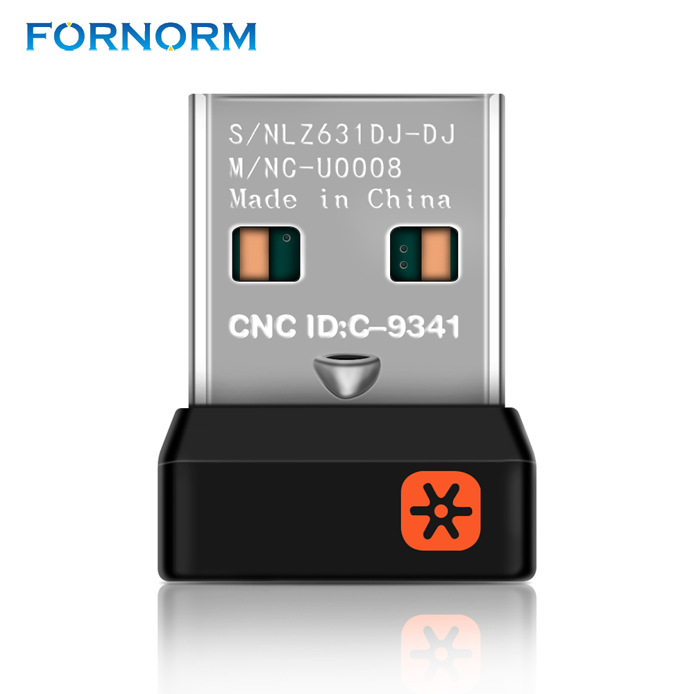 Wireless Dongle Empfänger Unifying USB Adapter für Logitech Maus Tastatur Connect 6 Gerät für MX M905 M950 M505 M510 M525 etc