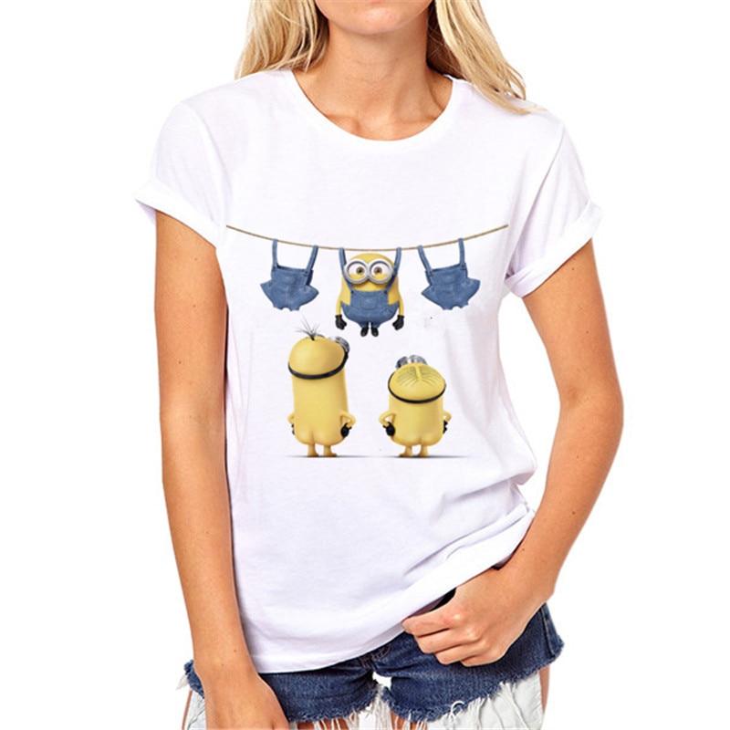 2018 moda de verano minions camiseta mujeres impresión 3D Lolita - Ropa de mujer - foto 1