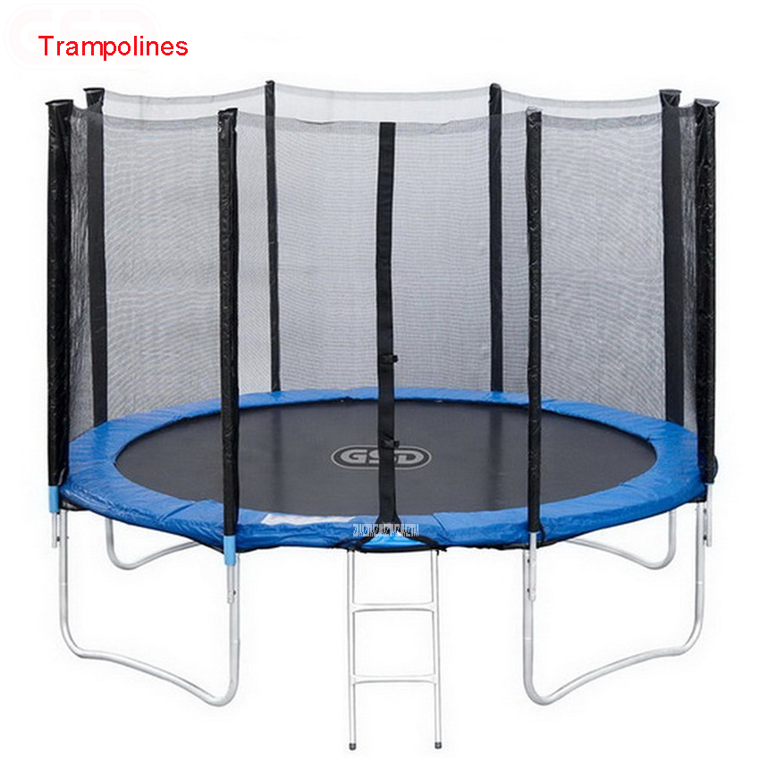 High Quality 55 Inch Kids Elastic Ring <font><b>Trampoline</b></font> With Safe Net Fits Jumping Material PVC Interior with net bungee jumping