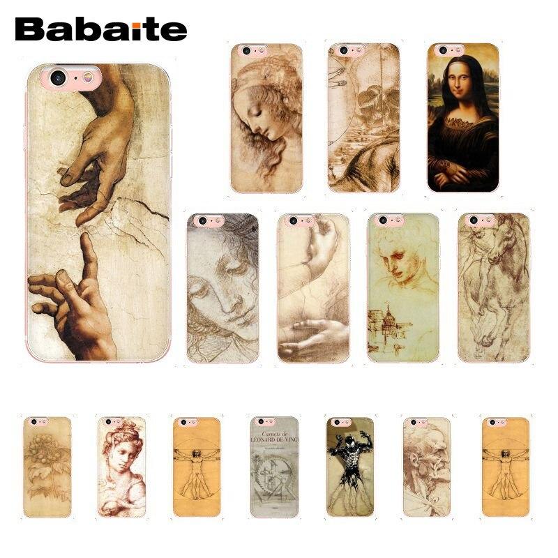 Babaite Italy leonardo da vinci art work painting Phone Case for iphone 11 Pro 11Pro Max X XS MAX 6 6S 7 8 8Plus 5 5S XR