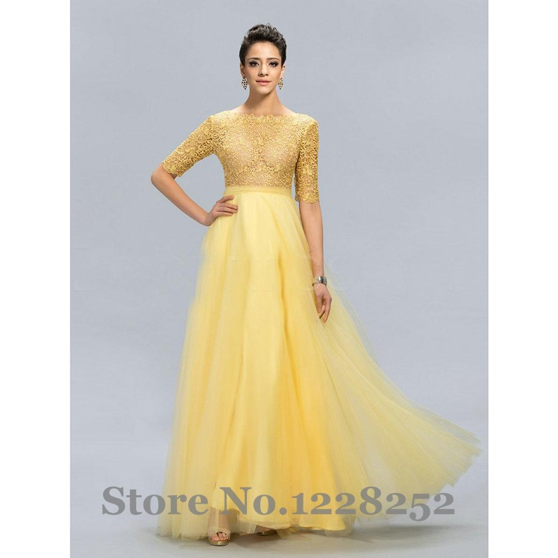 Maternity Dresses Formal Yellow Discount Evening Dresses