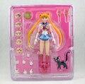 Intercambiáveis rosto Sailor Moon Tsukino Usagi PVC Action Figure coleção figuras brinquedos para brinquedos