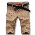 Hombres libres del envío cortocircuitos ocasionales 2016 del verano del algodón de hombre pantalones cortos impresos moda impreso nuevos estilos casuales tamaño delgado más 38 caliente venta