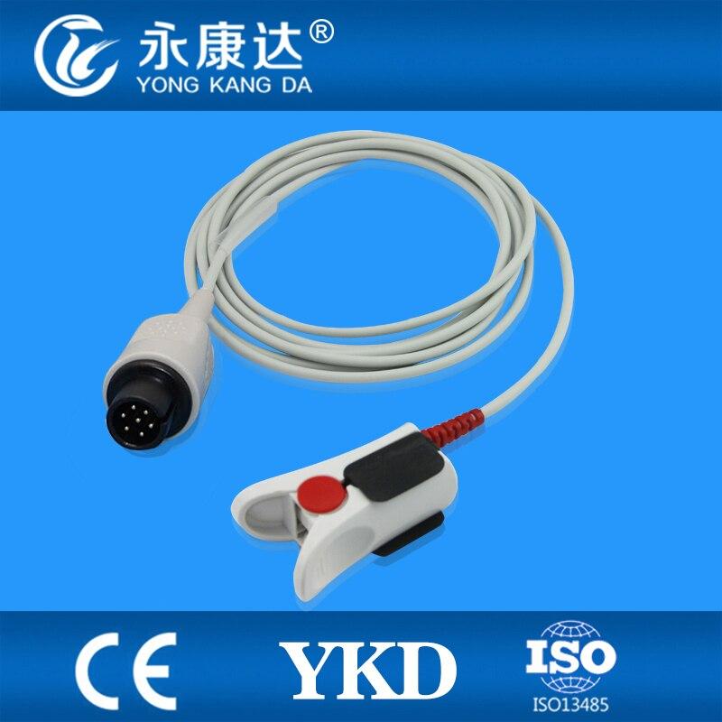 ФОТО Bionet compatible direct reusable  adult finger clip sensor,3m, 7pin