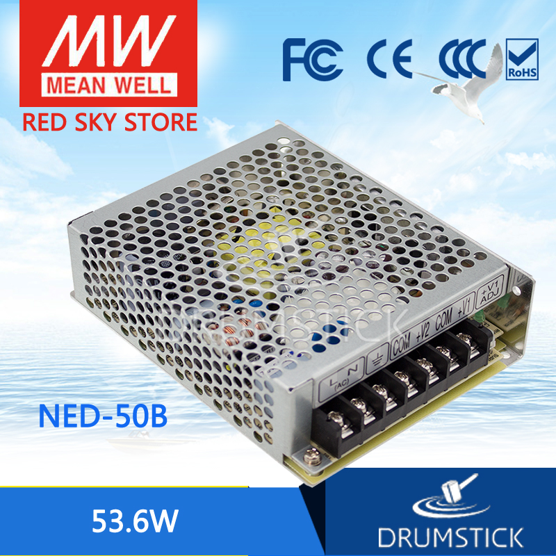(12.12)MEAN WELL NED-50B meanwell NED-50 53.6W Dual Output Switching Power Supply hamlet ned r