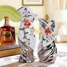 Taobao sells groceries creative ceramic flower floral arrangement living room decoration crafts art small vase цена