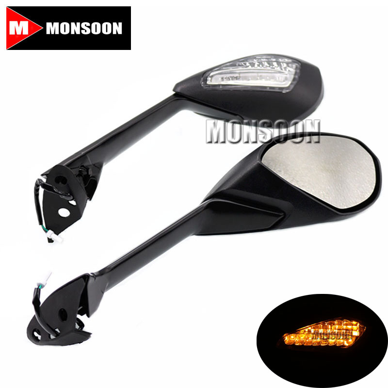 For DUCATI 1199 1199S 1199R 899 Panigale Motorcycle Rearview Mirrors with Turn Signal Light Lamp they do it with mirrors