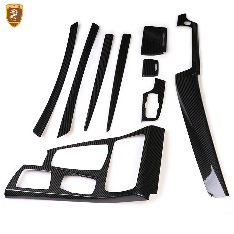 Full Carbon Fiber Interior Trim For BMW 5 Series 2011 2012 2013 2014 2015 2016 2017 Car Styling Accessories For BMW F18 f20 carbon fiber replace car mirror cover cap trim for bmw f20 auto styling 2012 2014