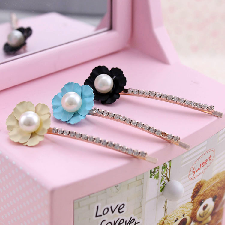 Hair accessories set auger pearl Daisy flower hairpin edge clip to a word of the lacquer the resume kit