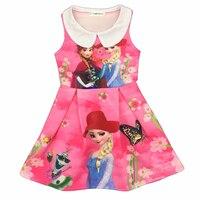 Baby Girls Dress Christmas Anna Elsa Costume Flower Summer Dresses Girl Princess Elsa Dress For Birthday