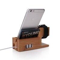 Telefon Halter Uhr Stand Lade Dock 3-port USB Halterung Station Für Apple Uhr 7 plus X/Für galaxy S10 S10E S9 Plus Luxus