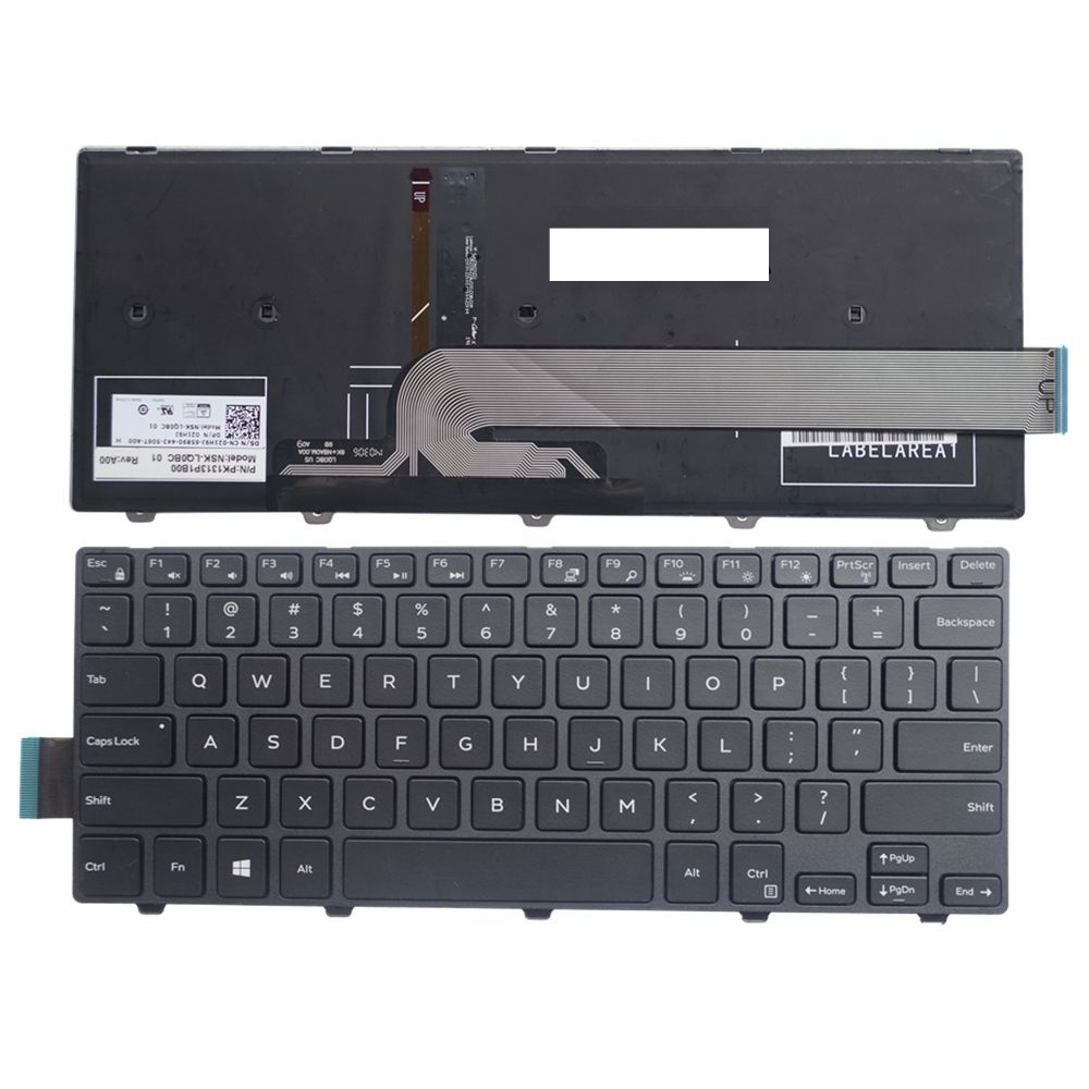 US Black New English Replace Laptop Keyboard For DELL 3447 5442 7447 14-5447 14C 14M 3000 3441 3442 14MR-1528 Backlight