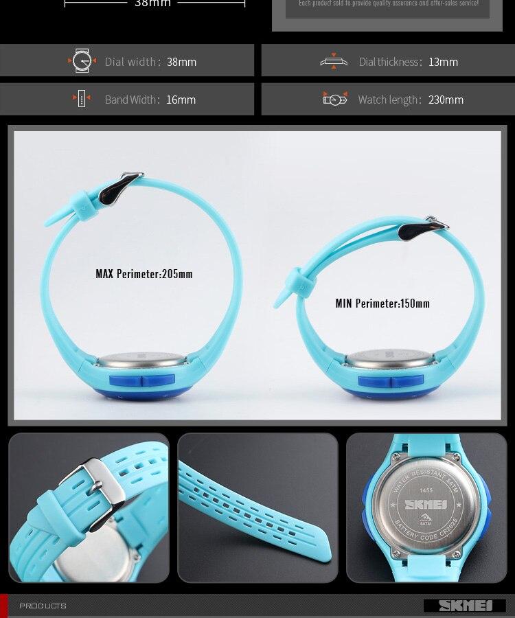 SKMEI Fashion Men Quartz Watch Children Digital Watch Big Dial Waterproof Parent-child Watches relogio masculino 9185 1455 Set 24