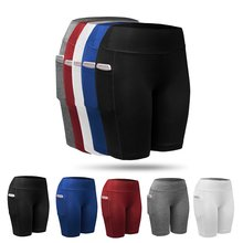 Quick Dry Compression Yoga Fitness Shorts Running Gym Stretch Sports Tights Pants