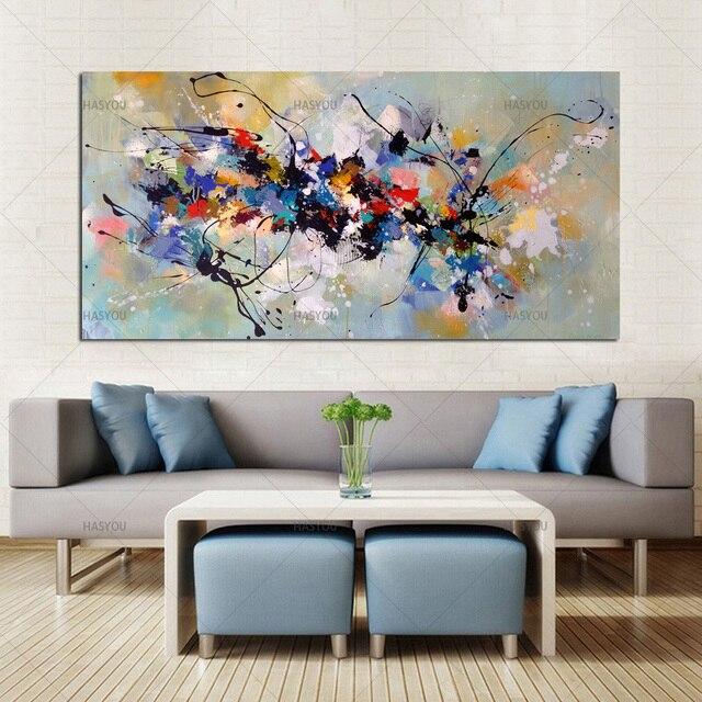 Лучшая новинка, картина, абстрактные Масляные картины на холсте, 100% ручная работа, цветной холст, современное искусство для домашнего декора стен
