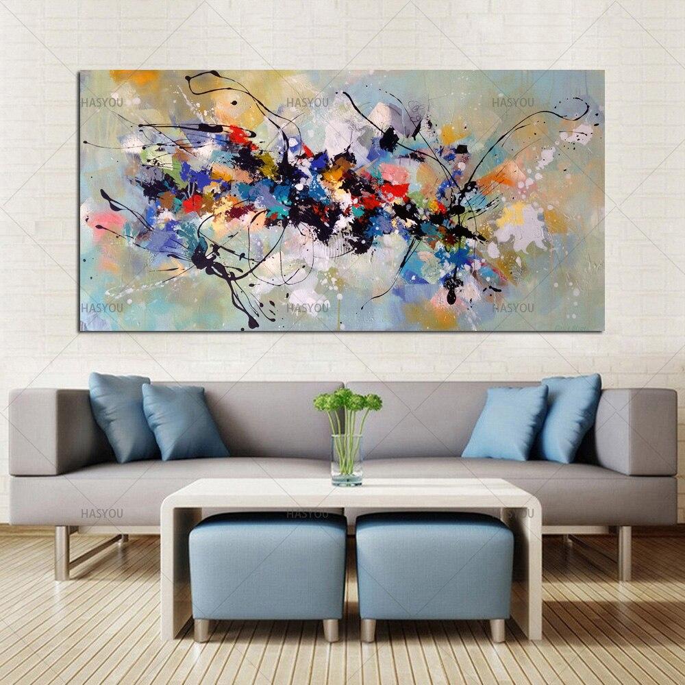 Лучшие новые картины, абстрактные картины маслом на холсте, 100% ручная работа, красочные картины на холсте, современное искусство для домашнего декора стен