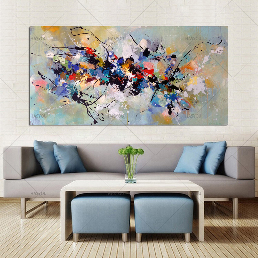Best New Picture Painting Abstract Oil Paintings on Canvas 100%Handmade Colorful Canvas Art Modern Art for Home Wall Decor image