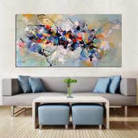 Mejor cuadro nuevo abstracta pintura al óleo sobre lienzo 100% lienzo colorido hecho a mano arte moderno para la decoración de la pared del hogar