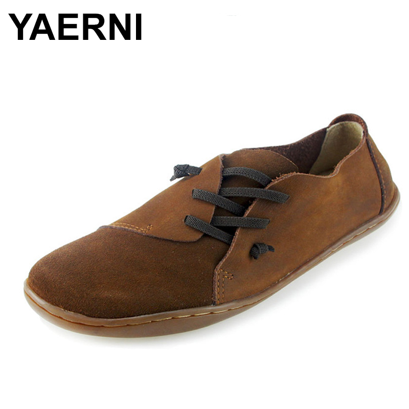 YAERNI Women's Shoes Hand-made Slip on Ballet Flats Genuine Leather Ladies Flat Shoes Plain toe Mary Jane Flats Female Footwear summer women ballet flats mary jane shoes buckle strap black casual wedges shoes ladies anti slip slip on flat sapato feminino