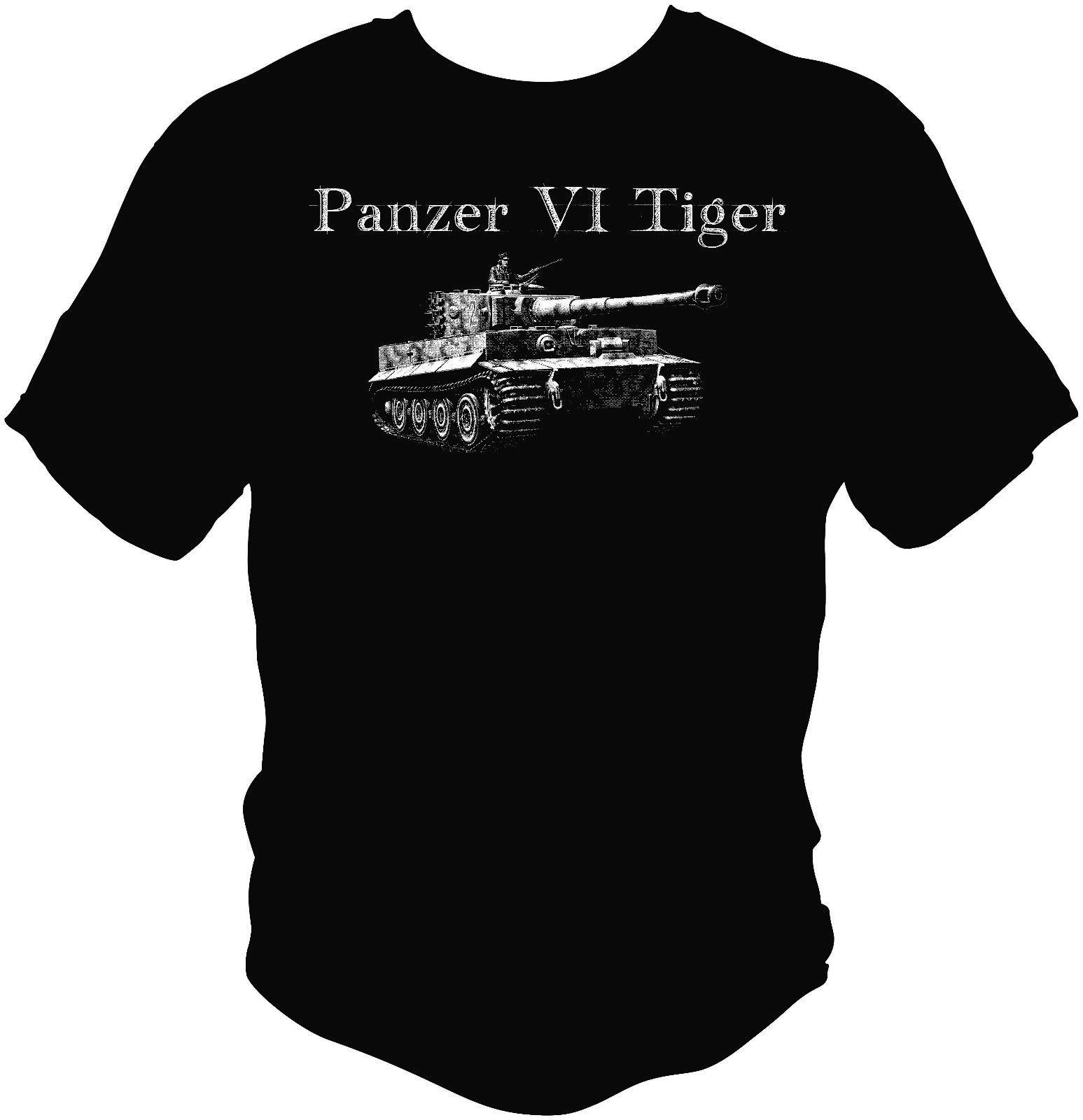 2018 Summer Hot Sale Men T-shirt Tiger Tank Panzer VI T shirt WWII WW2 German Werhmacht Waffen ASL FURY