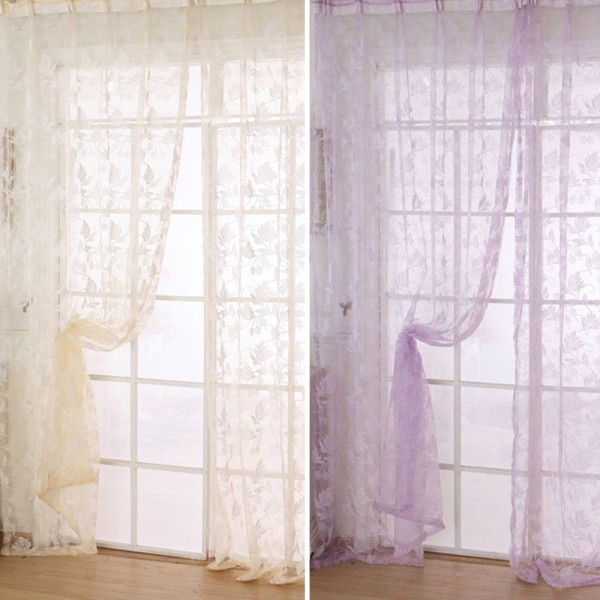 New Sheer Voile Room Divider Window Curtain Door Panel Drapes Scarf