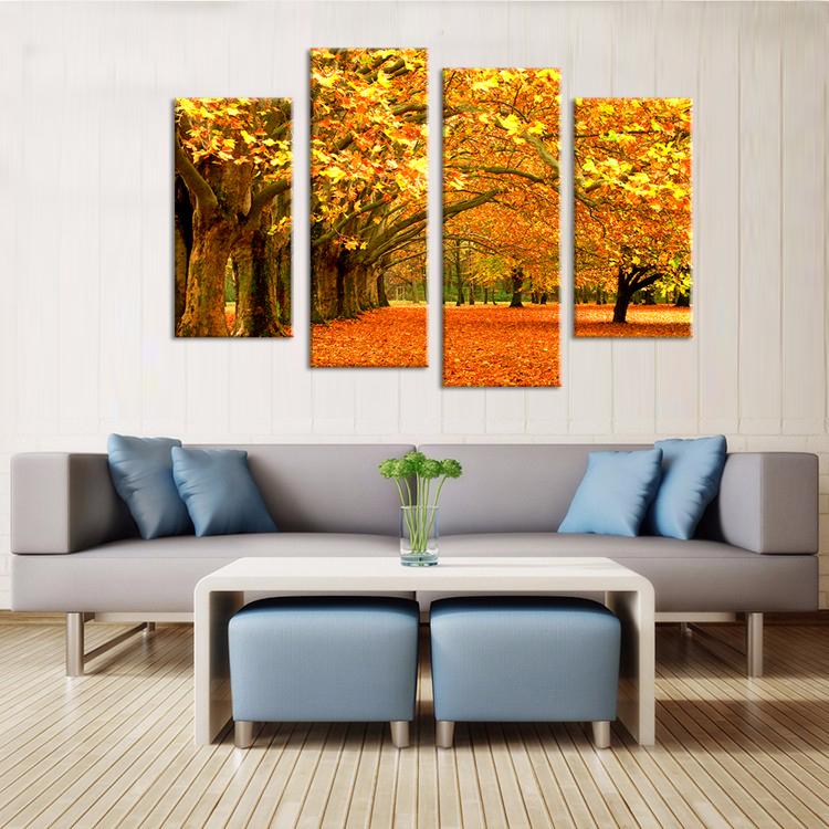 venta de pared cuadros para la sala cuadros hoja que cae en el otoo unids
