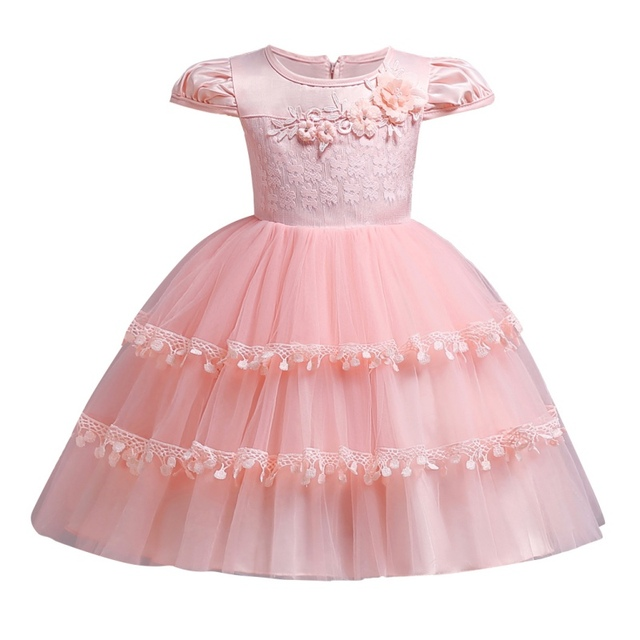 3ef38cf1bf87 Bobora Baby Girls Dress Mesh Children Wedding Party Dresses Kids Evening  Ball Gowns Formal Baby Clothes for Girl 0-10Years Old