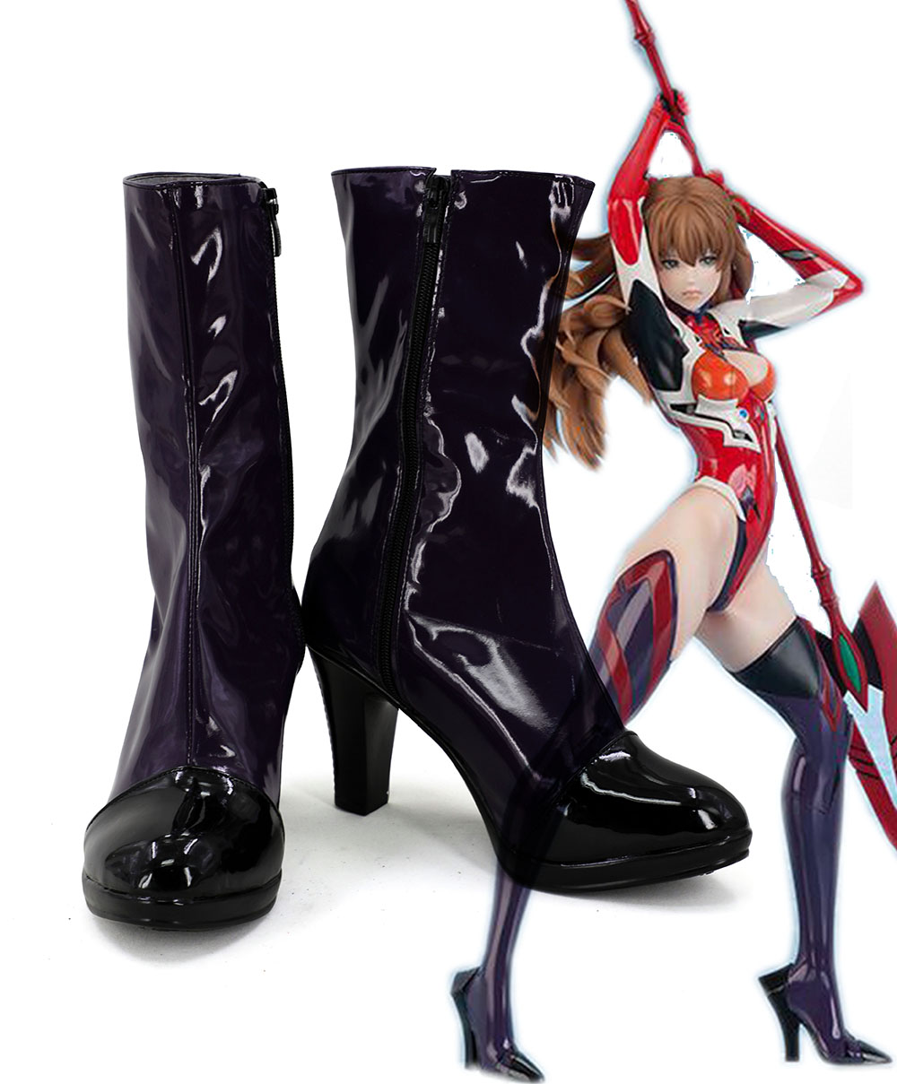 Neon Genesis Evangelion EVA Asuka Langley Soryu Cosplay Boots Shoes Custom Made