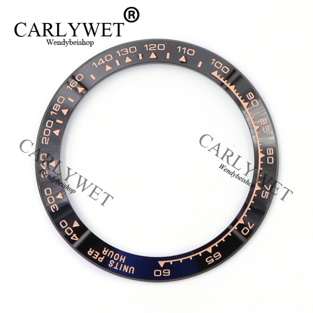 Wholesale High Quality Ceramic Black with Rose Gold Writing Watch Bezel for 116500 - 116520
