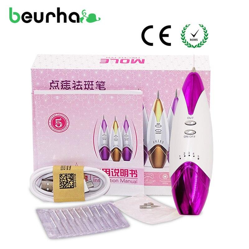 Beurha Laser Freckle Mole Removal Point Mole Face Wart Pen Purple Tattoo Spots Professional Point Nevus Salon Home Beauty Star
