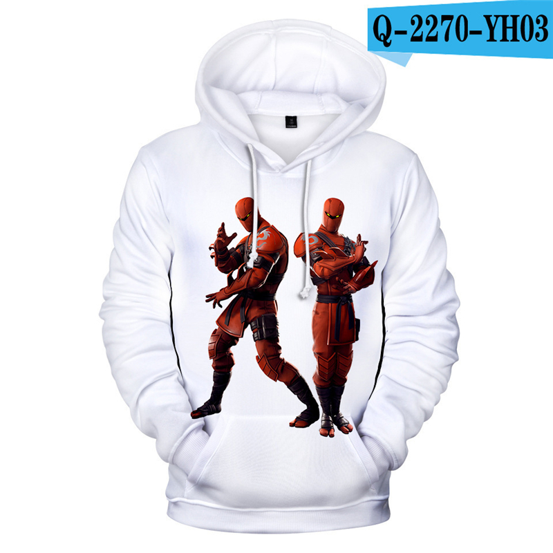 3D Hoodie Fornite Battle Royale Tracksuit Pullover Battle Royale Clothings 2019 Women Clothing Kid Clothes Game Clothes Boys