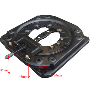 Image 2 - Heavy duty swivel with 4 way car seats turntables bus RV chair rotary base Mpv seat rotating base